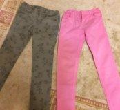 Брюки для девочки (джинсы)140см