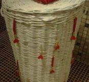 Корзина для белья плетёная