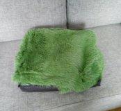 Плед пушистый зелёный