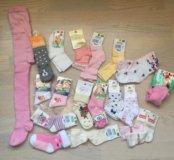НОВЫЕ носки и колготки для девочки на 2 года