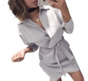 Элегантное платье-рубашка р. S, M