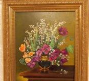 """Картина """"Ландыши"""", 40×50, холст, масло"""