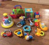Погремушки, игрушки муз