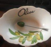 Новая тарелочка под оливки