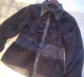 Прозрачная блузка размер s-m