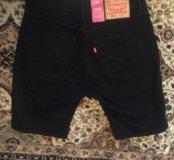 Levi's 505 новые чёрные шорты джинсовые