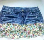 Стильная джинсовая юбка р-р 46-48