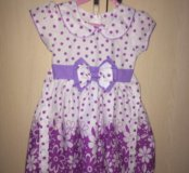 Новое платье 1-2года