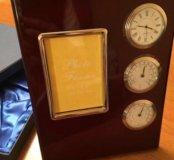 Фоторамка часы гидрометр 23 февраля подарок