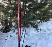 Лыжи Fischer 190 новые + палки