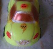 Машинка такси из мыла