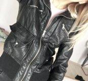 Куртка кожанка( кожзам)