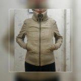 Демисезонная куртка варенная кожа