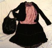 Чёрный бархатный костюм