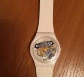 Оригинальные часы swatch с открытым механизмом