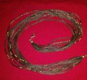 Колье браслет серебро