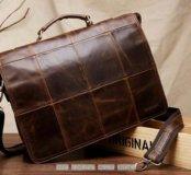 Мужской кожаный портфель сумка из натуральной кожи