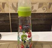 Бутылочка Chicco стеклянная