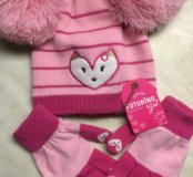 Новый набор Шапка перчатки