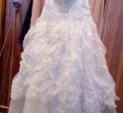 Свадебное платье,перчатки,фата,туфли
