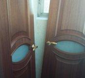 Двери массив двустворчатые.