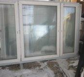 Окна пластиковые с новостройки 156х228 см