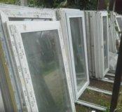 Окна пластиковые с новостройки 156х 54 и 70 см
