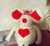 мышка валентинка
