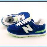 Кроссовки New Balance 574 синие с салатовым