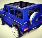 Электромобиль синий amg