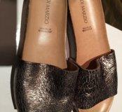 Кожаные шлёпанцы -сандали Di Marzio