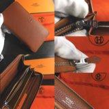 Коричневый кошелёк Hermes 20x11cm на молнии