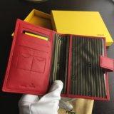 Обложка Fendi красная под паспорт/права