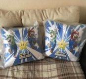 2 подушки Супер Марио