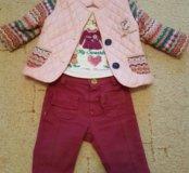 Комплект на весну куртка кофточка и брючки