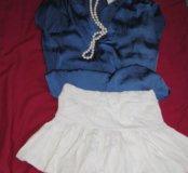 Белая юбка теннисная