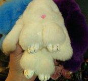 Меховой заяц брелок