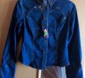 Новый джинсовый пиджачок, курточка, 44-46
