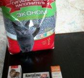 Наполнитель и капли для котов
