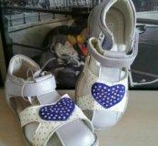 Новые сандали для девочек кожа