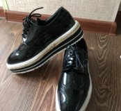 Ботинки/лоферы/броги женские новые