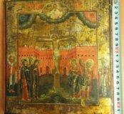 Икона 19 век Распятие Господне.