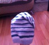 Вязанная новая шапочка