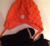 Новая шапка Reima-50,краги демисезонные lenne-1