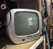 Телевизор черно Белый портативный