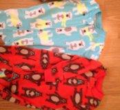 Пижамы картерс флисовые, размер на 1,5 года