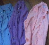 3 рубашки лён