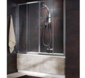 Раздвижная стеклянная штора купе в ванную комнату