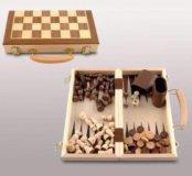 Набор для трёх игр (нарды, шашки, шахматы)