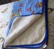 Одеяло детское новое натуральное шерсть хлопок